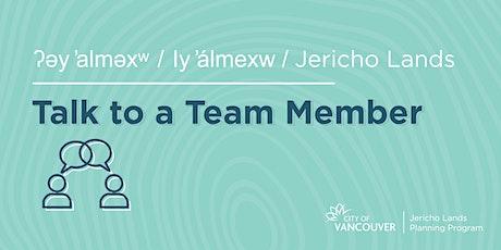 Jericho Lands: Talk to a Team Member tickets