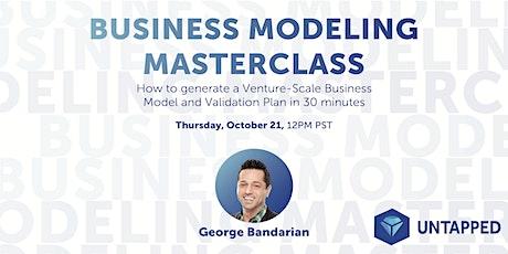 Business Modeling Masterclass tickets