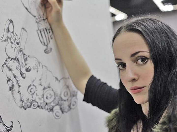 Fanning the Flames: Live Coloring Event with Molly Crabapple image