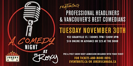 A Comedy Night At The Roxy tickets
