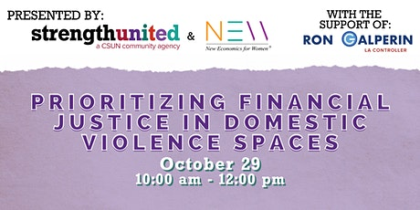 Prioritizing financial justice in domestic violence spaces tickets