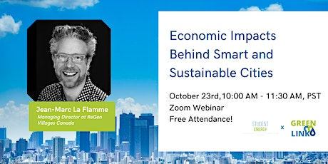 Economic Impacts Behind Smart and Sustainable Cities tickets