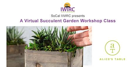 A Virtual Succulent Garden Workshop Class tickets