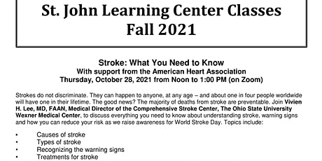 Stroke: What You Need to Know tickets