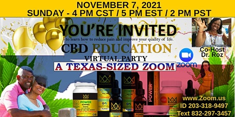 A Texas-Sized Virtual Party - CBD and it's Benefits.  What You Don't Know tickets