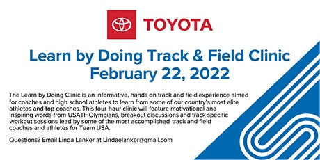 Learn By Doing Track & Field Clinic I Driven By Toyota tickets