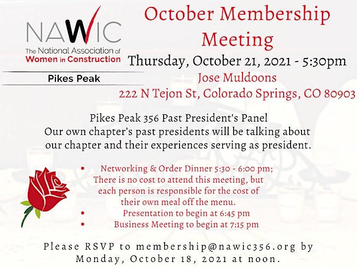 NAWIC October Membership Meeting image