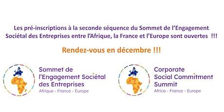2ème séquence du Sommet de l'Engagement Sociétal des Entreprises billets