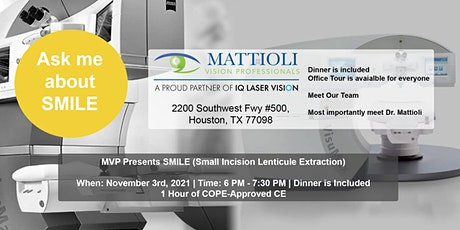 MVP Presents SMILE (Small Incision Lenticule Extraction) tickets
