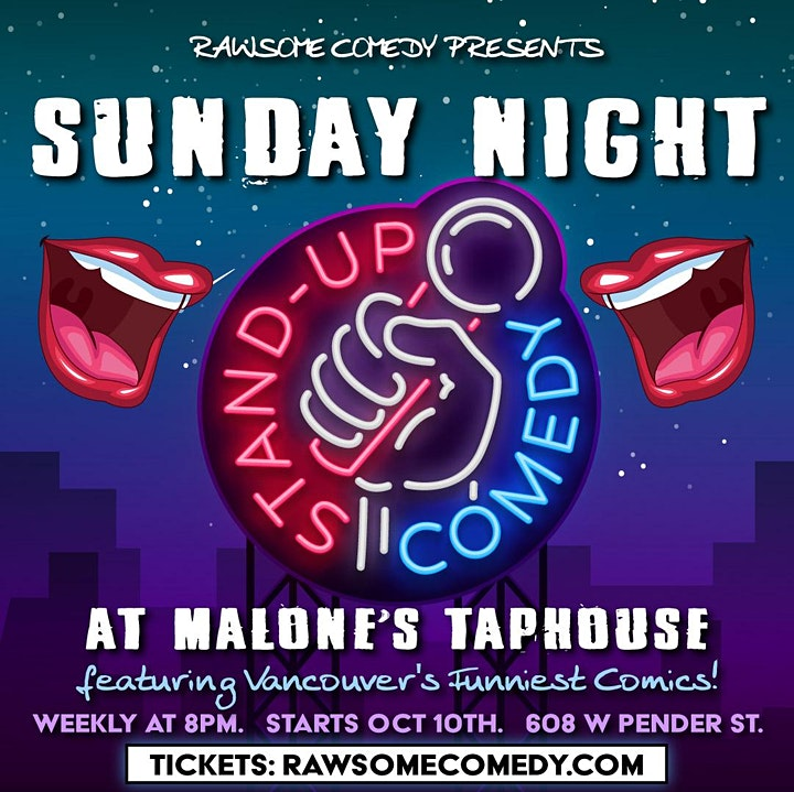 Sunday Night Stand Up Comedy at Malone's image