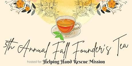 5th Annual Fall Founder's Tea tickets