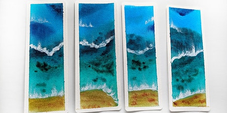 Watercolor Painting bookmarks tickets