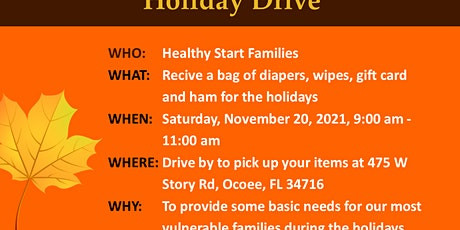 Holiday Drive for Healthy Start Families tickets