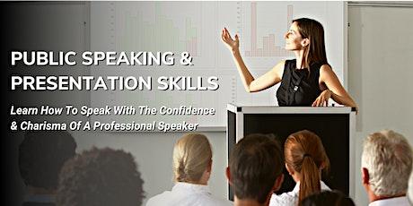 Public Speaking & Presentation Skills - Live Online Class tickets