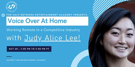 Voice Over at Home - Working remote in a competitive industry with Judy Lee tickets