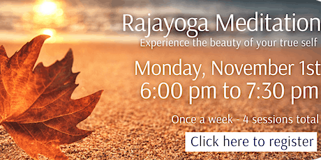 English - Introduction to Raja Yoga Meditation - Online Course (4 Weeks) tickets