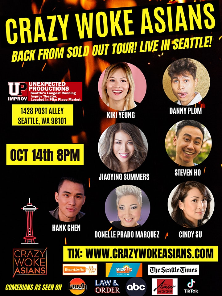 ONE NIGHT ONLY! CRAZY WOKE ASIANS at Unexpected Productions in Seattle! image