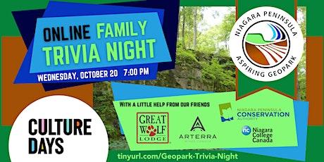 Niagara Peninsula Geopark Online Family Trivia Night tickets