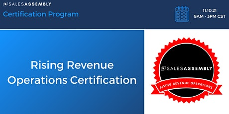 Rising Revenue Operations Certification tickets