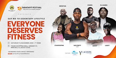 TABATAFIT FESTIVAL 2.0 : 'Everyone Deserves Fitness' billets