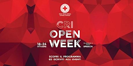 CRI Open Week -  Lavori di pubblica utilità, un servizio per la comunità biglietti
