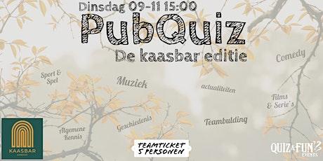 PubQuiz, Kaasbar editie | Utrecht 5p. tickets