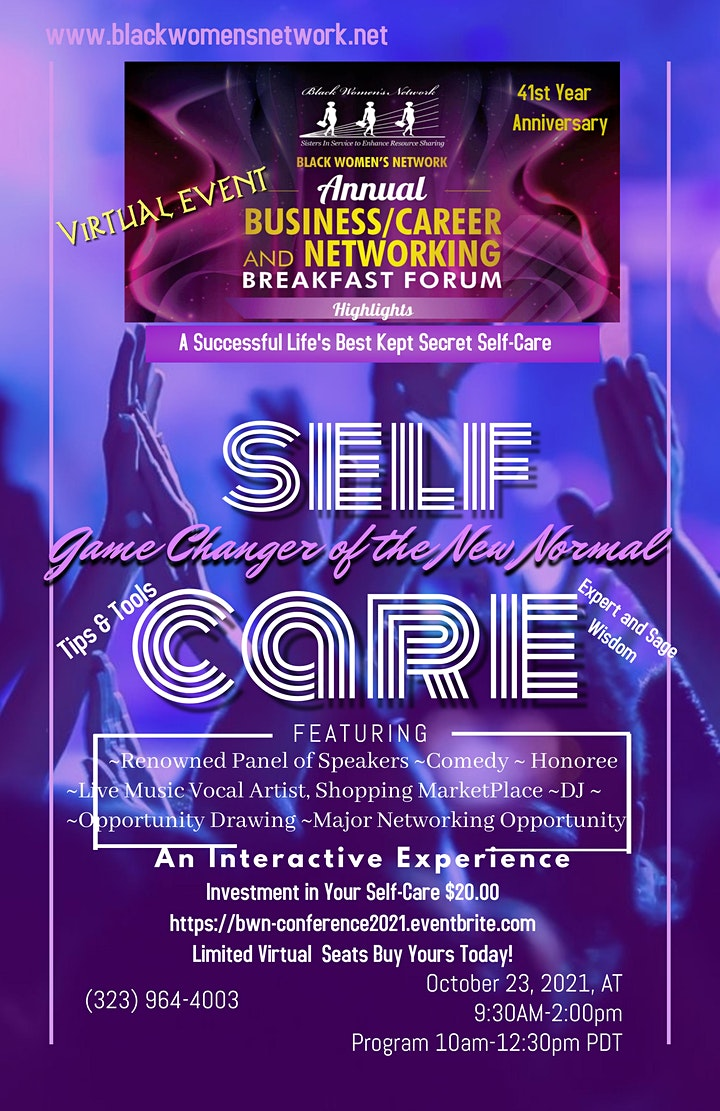 2021 Virtual  Business-Career-Best You-Networking Self-Care  Symposium image