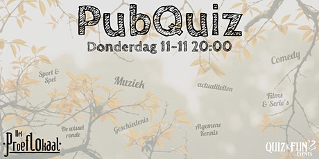 PubQuiz november| Waalwijk tickets