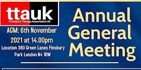 Trinidad & Tobago Association (UK) Annual General Meeting 2021 tickets