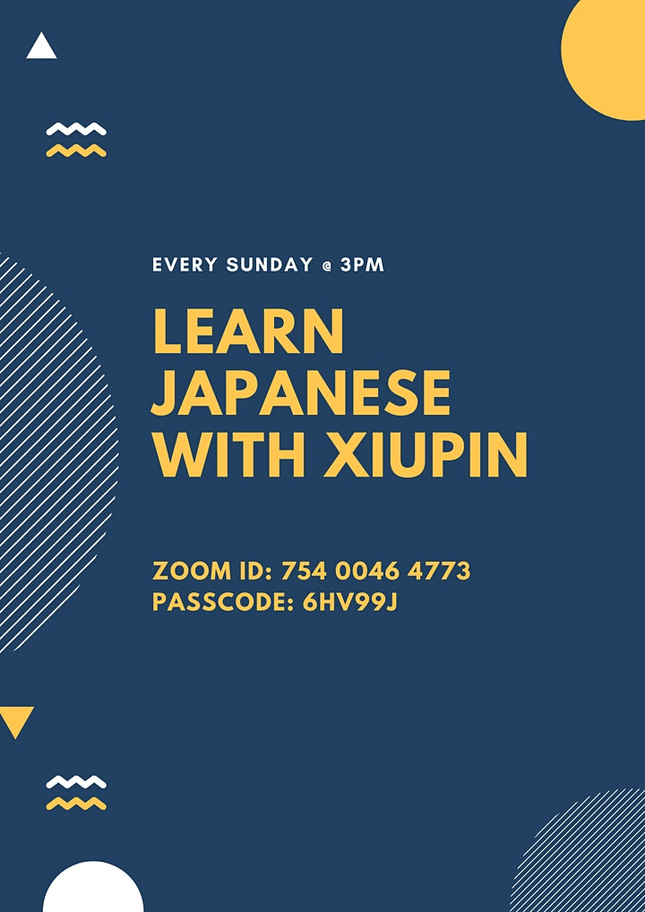 Learn Japanese with Xiu Pin image
