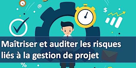 """Formation """" Maîtriser et auditer les risques liés à la gestion de projet """" billets"""