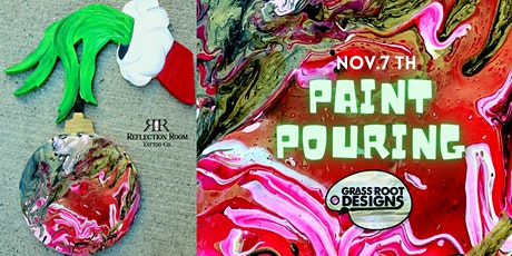 The Grinch Hand   Paint Pouring Workshop! tickets