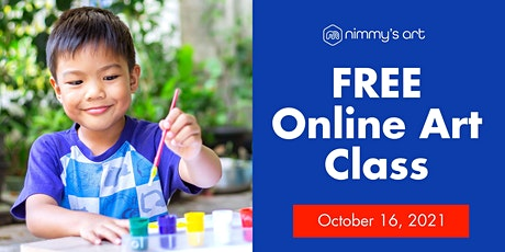 Free Online Art Class for Kids - Acrylic Painting - October 16, 2021 tickets