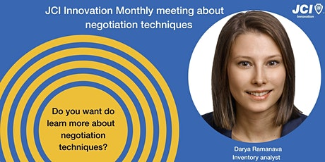 JCI Innovation Monthly meeting about essential negotiation skills tickets