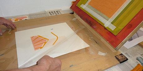 Printmaking workshops -  Silkscreen using stencils tickets