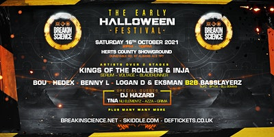 Breakin Science  Early Halloween Festival Poster