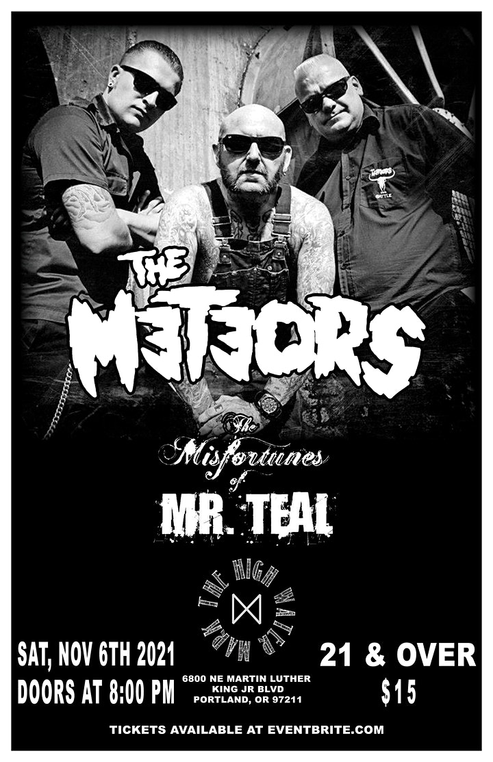 THE METEORS  - at THE HIGH WATER MARK LOUNGE || FULLY VAXXED ONLY image
