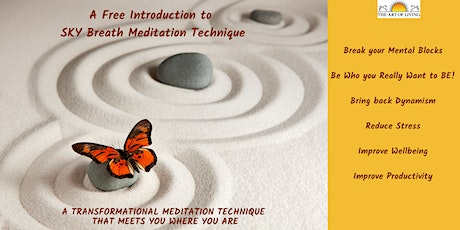 Boost your Productivity - Introduction to  SKY Breath Meditation tickets