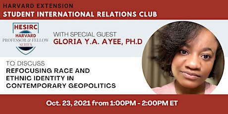 Refocusing Race and Ethnic Identity in Contemporary Geopolitics tickets