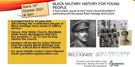 6 week  course on Black soldiers, sailors and pilots in The First World War tickets