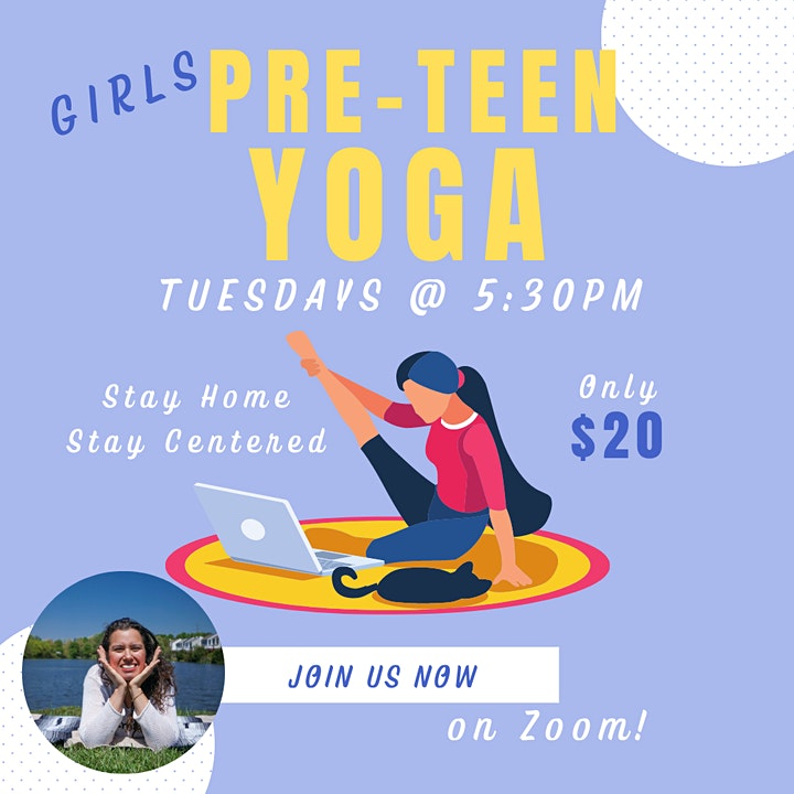 Virtual Pre-Teen Girls Yoga Group image
