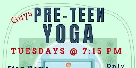 Pre-Teen Boys Yoga Group Classes tickets