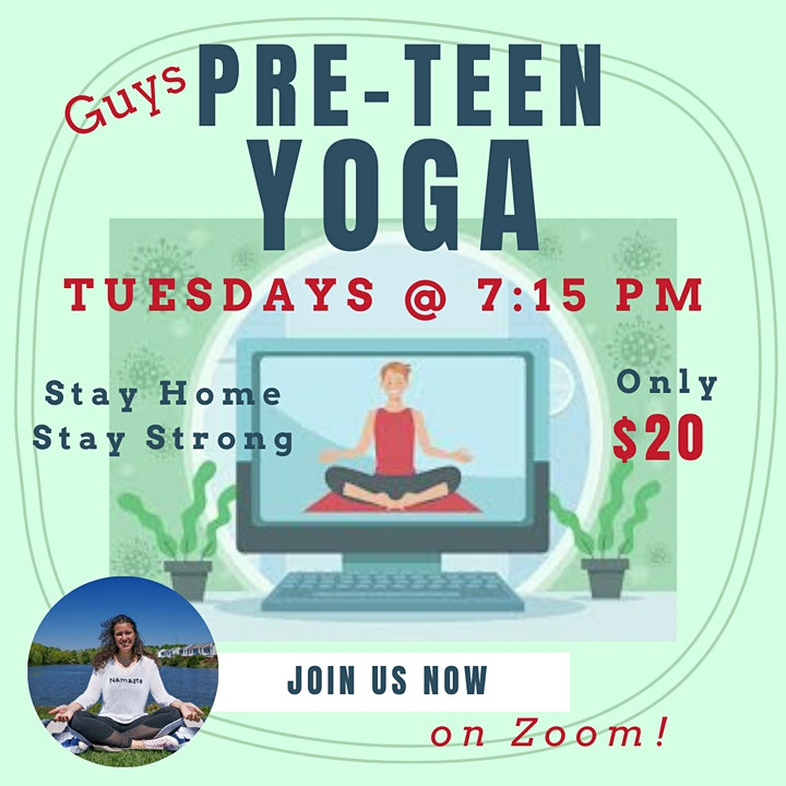 Pre-Teen Boys Yoga Group Classes image