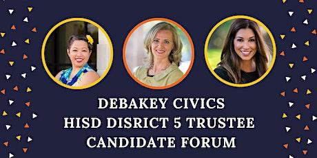 2021 District 5 Trustee Candidate Forum tickets