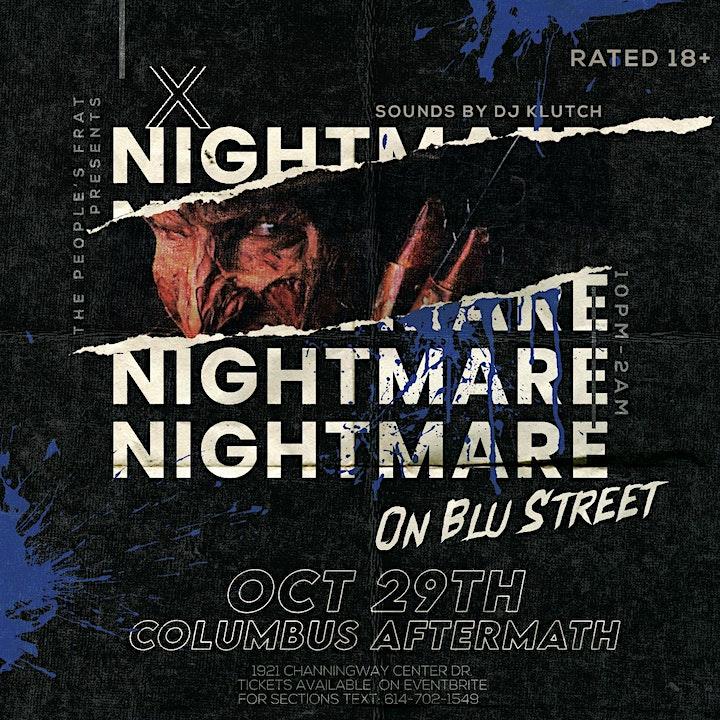 THE PEOPLES FRAT Presents: Nightmare on BLU Street image