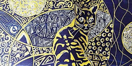 MIDNIGHT CAT CREATE   PAINT   ONLINE tickets