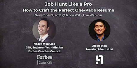 Job Hunt Like a Pro:  How to Craft the Perfect One-Page Resume tickets