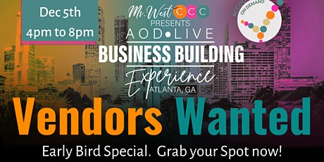 #VENDORS Wanted for  Accountability On Demand Entrepreneur Expo 2021 tickets