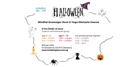 Halloween Mindful Scavenger Hunt &  Yoga Obstacle Course tickets