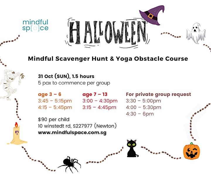 Halloween Mindful Scavenger Hunt &  Yoga Obstacle Course image